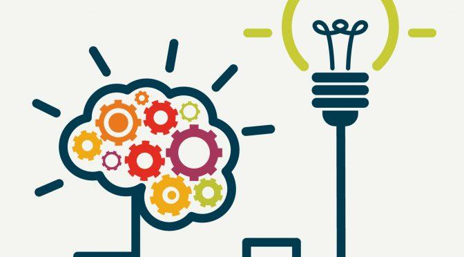 מנורת השראה ומוח שמראים השראה
