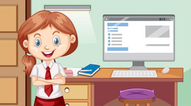 ילדה עם מחשב